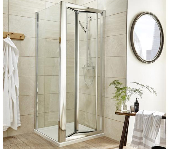 Lauren pacific 1000 x 1850mm bi fold shower door aqbd10 for 1000 bifold shower door