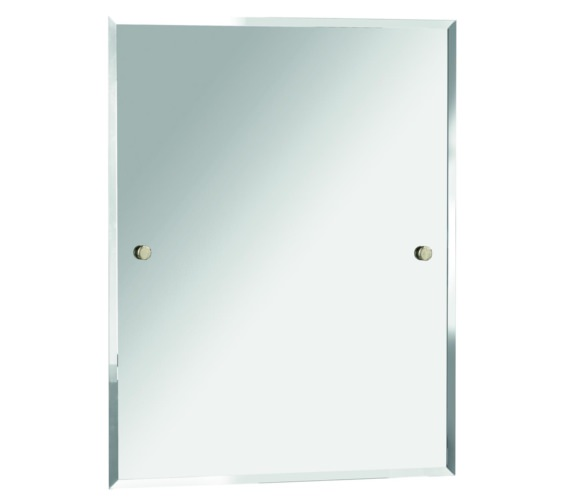 Bristan Rectangle 700 x 550mm Mirror Gold