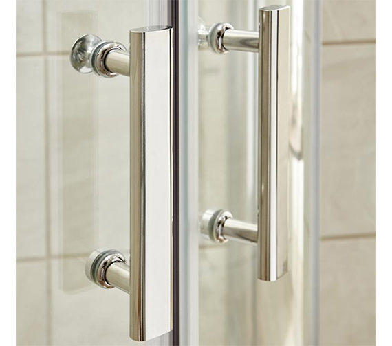 Additional image of Lauren Pacific 900 x 1850mm Hinged Shower Door