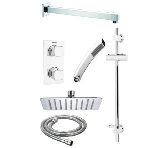 Bristan Cobalt Recessed Dual Control Shower Pack