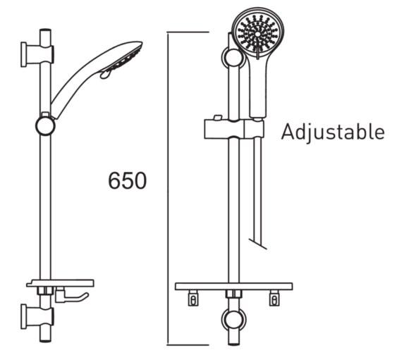 Technical drawing QS-V6906 / CAS KIT04 C