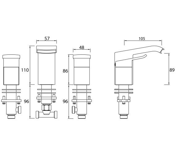 Technical drawing QS-V6948 / DSC 3HBAS C