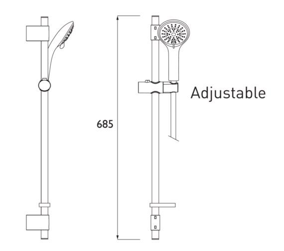 Technical drawing QS-V6907 / CAS KIT05 C