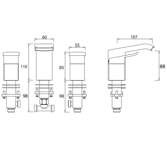 Technical drawing QS-V6949 / DSC 3HBF C