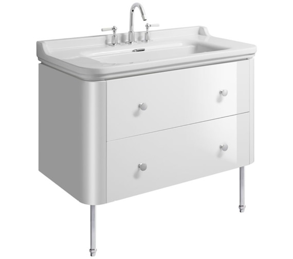 Bauhaus Waldorf 1000mm Basin Unit With Legs And 4 Knobs