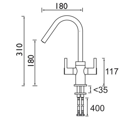 Technical drawing QS-V6945 / CSH EFSNK C TO