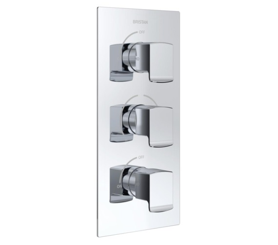 Bristan Descent Thermostatic Recessed 3 Control Shower Valve