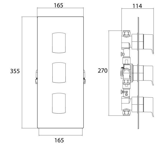 Technical drawing QS-V6956 / DSC SHC3STP C