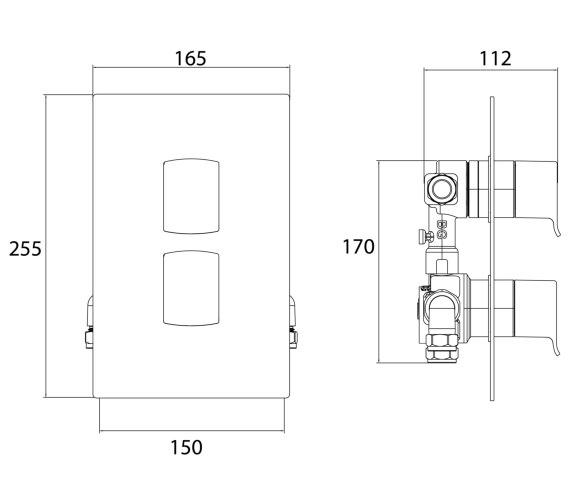 Technical drawing QS-V6957 / DSC SHCDIV C