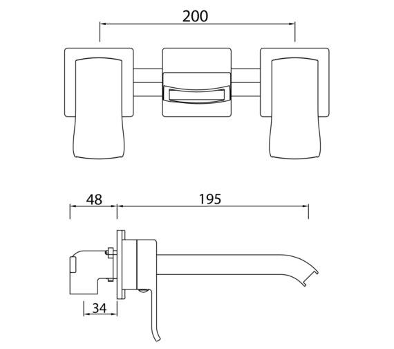Technical drawing QS-V6960 / DSC WMBF C