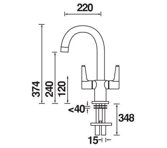 Technical drawing QS-V6961 / DUL SNK EF C