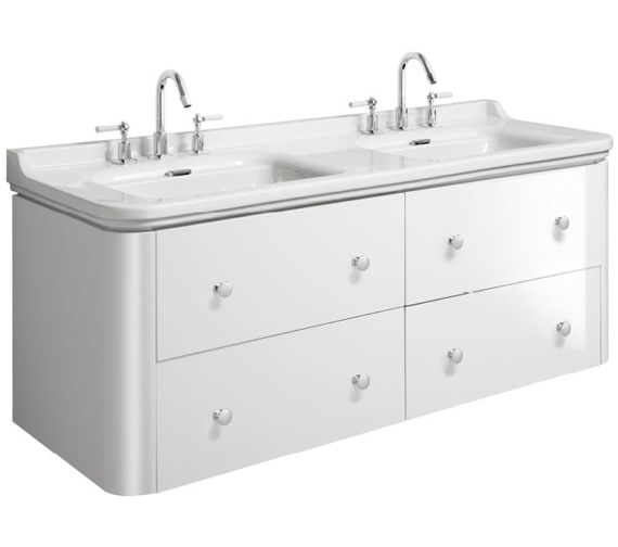 Bauhaus Waldorf 1500mm White Gloss Basin Unit With 8 Knobs