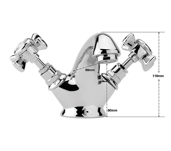 Alternate image of Sagittarius Churchmans Monobloc Basin Mixer Tap With Pop-Up Rod Waste Chrome