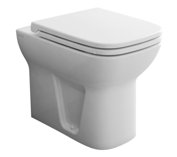 Vitra S20 Back-To-Wall WC Pan With Soft Close Toilet Seat