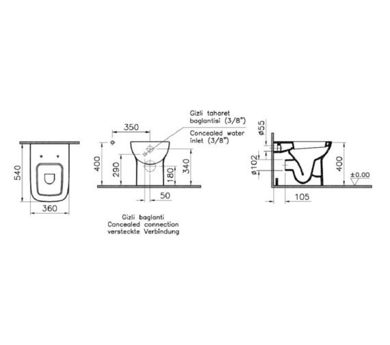 Technical drawing QS-V81890 / VITS20BTWSC