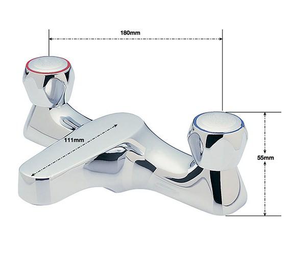 Alternate image of Sagittarius Contract Deck Mounted Bath Filler Tap