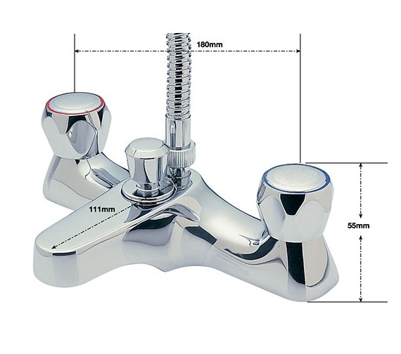 Alternate image of Sagittarius Contract Deck Mounted Bath Shower Mixer Tap And Kit