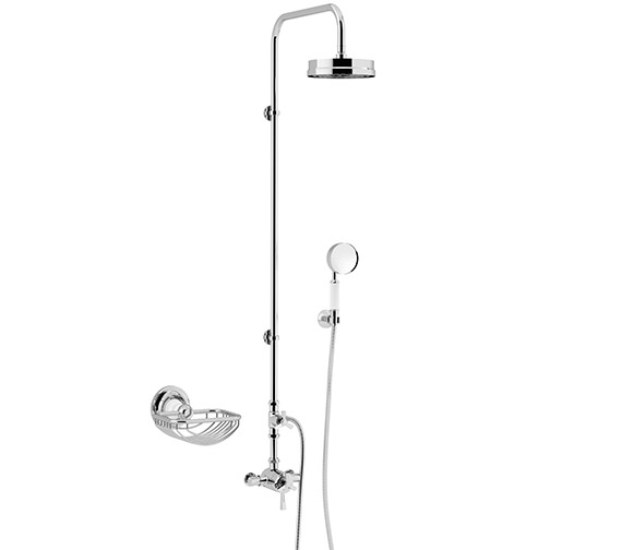Heritage Gracechurch Exposed Thermostatic Chrome Valve With Rigid Riser Kit