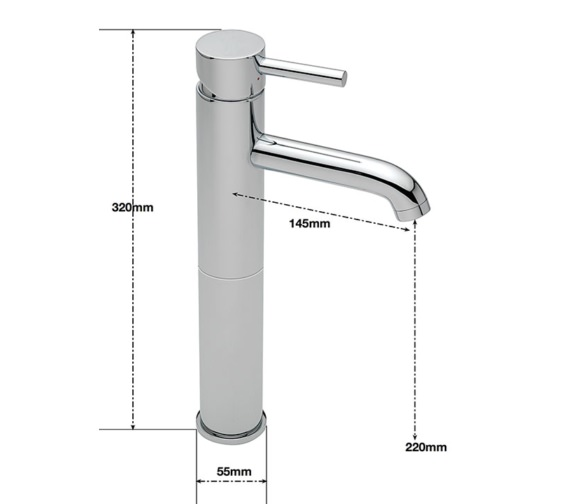 Alternate image of Sagittarius Ergo Extended Monobloc Basin Mixer Tap With Sprung Waste