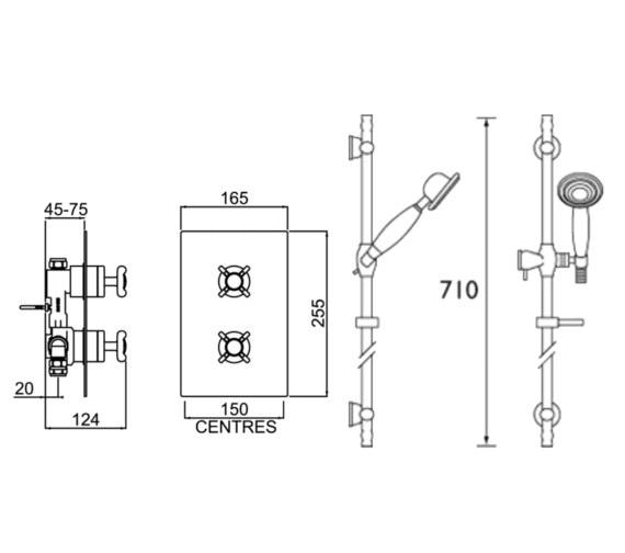 Technical drawing QS-V6866 / 1901 SHWR PK
