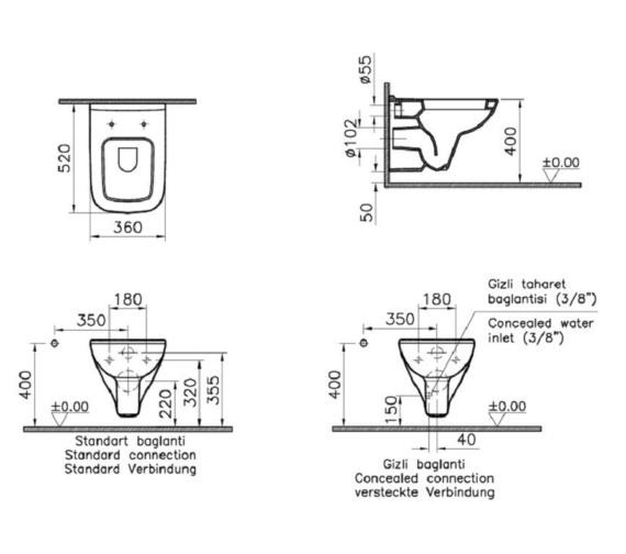 Technical drawing QS-V81892 / VITS20WHSC