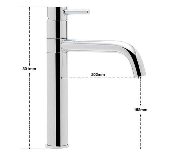 Alternate image of Sagittarius Ergo Top Lever Monobloc Kitchen Sink Mixer Tap