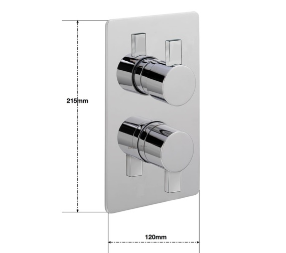 Alternate image of Sagittarius Evolution Concealed Thermostatic Shower Valve