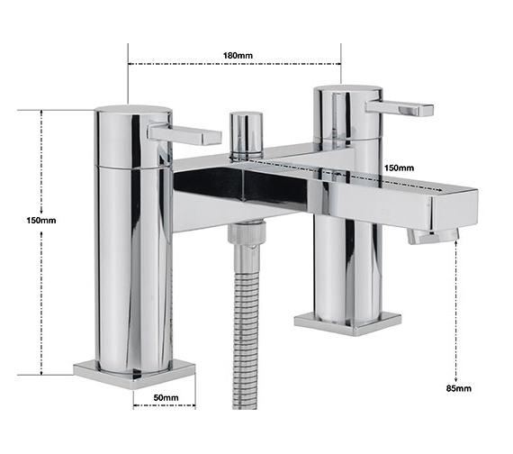Alternate image of Sagittarius Evolution Deck Mounted Bath Shower Mixer Tap With No.1 Kit