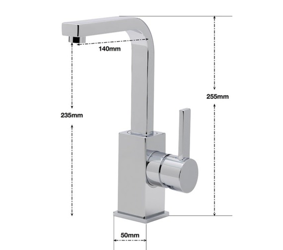 Alternate image of Sagittarius Evolution Swivel Spout Monobloc Basin Mixer Tap With Waste