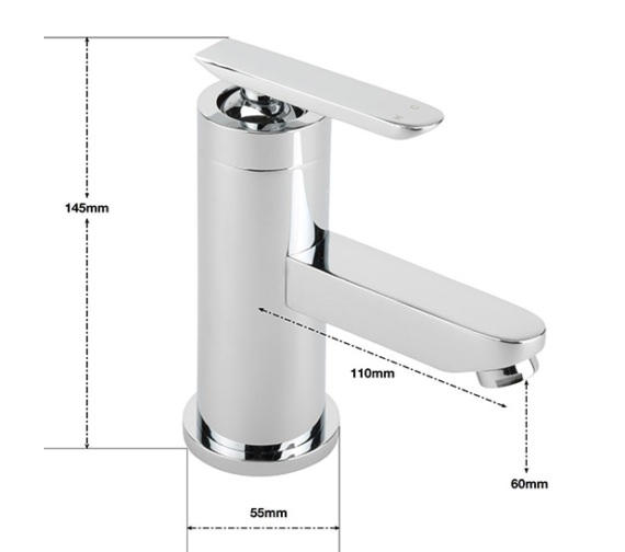 Alternate image of Sagittarius Eclipse Monobloc Basin Mixer Tap With Sprung Waste