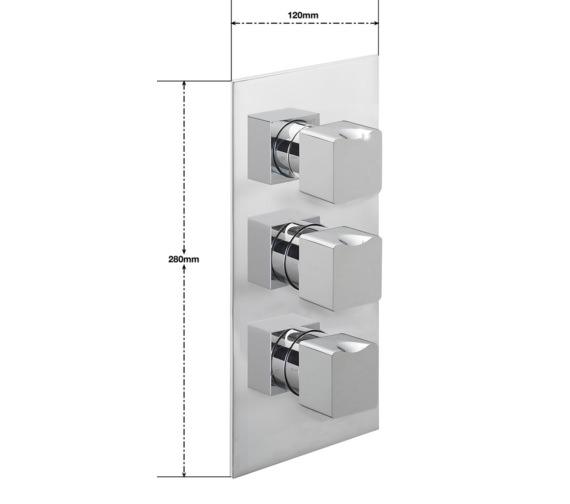 Alternate image of Sagittarius Matisse Concealed Thermostatic Shower Valve With 3 Way Diverter