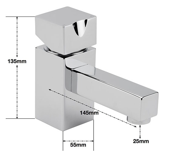 Alternate image of Sagittarius Matisse Deck Mounted Monobloc Bath Filler Tap
