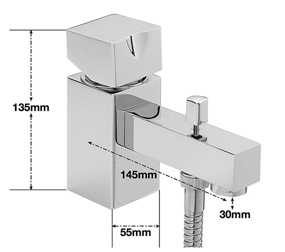 Alternate image of Sagittarius Matisse Deck Mounted Monobloc Bath Shower Mixer Tap With Kit