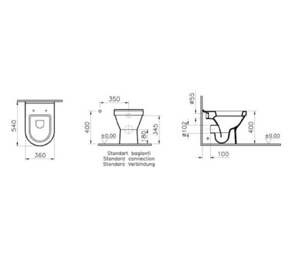 Technical drawing QS-V81893 / VITS50BTWSC