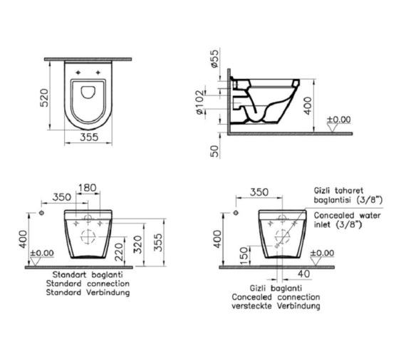 Technical drawing QS-V81894 / VITS50WHSC