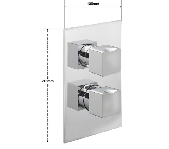 Alternate image of Sagittarius Matisse Concealed Thermostatic Shower Valve With 2 Way Diverter