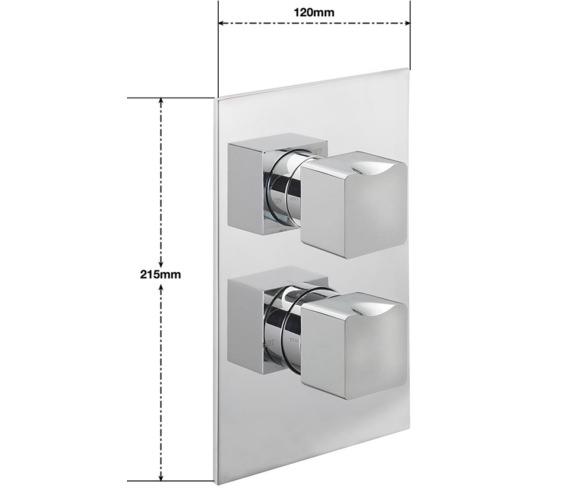 Alternate image of Sagittarius Matisse Concealed Thermostatic Shower Valve With 2 Way Diverter
