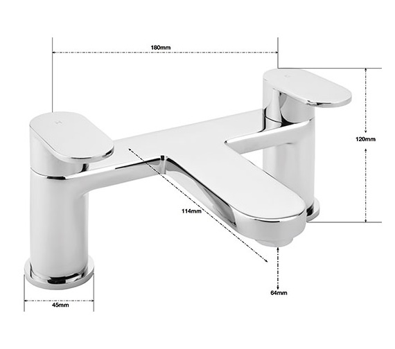 Alternate image of Sagittarius Metro Deck Mounted Bath Filler Tap