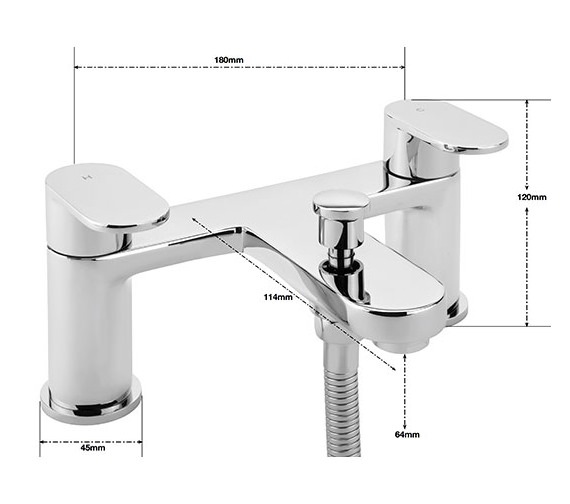 Alternate image of Sagittarius Metro Deck Mounted Bath Shower Mixer Tap With No.1 Kit