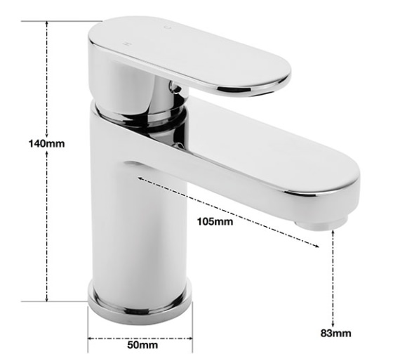 Alternate image of Sagittarius Metro Monobloc Basin Mixer Tap With Sprung Waste