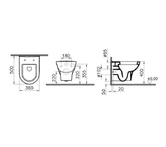 Technical drawing QS-V81896 / VITZENWHSC