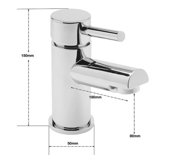 Alternate image of Sagittarius Piazza Cloakroom Monobloc Basin Mixer Tap