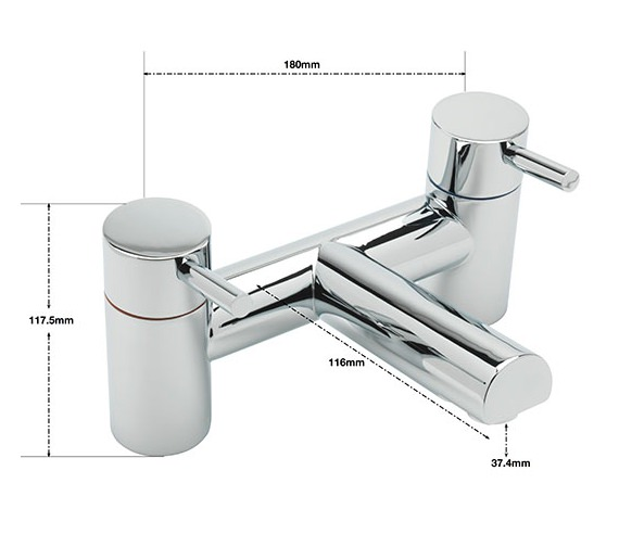 Alternate image of Sagittarius Piazza Deck Mounted Bath Filler Tap