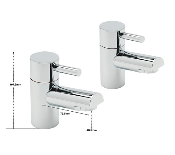 Alternate image of Sagittarius Piazza Pair Of Basin Taps
