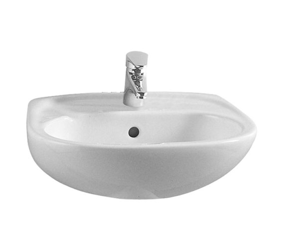 VitrA Milton 450 x 355mm 1 Tap Hole Basin