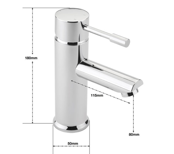 Alternate image of Sagittarius Boston Monobloc Basin Mixer Tap With Sprung Waste