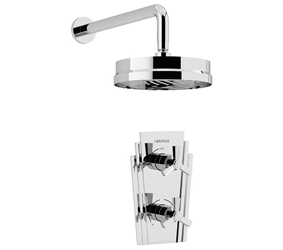 Heritage Gracechurch Recessed Thermostatic Shower Valve With Fixed Head Kit