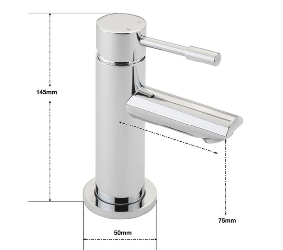 Alternate image of Sagittarius Boston Cloakroom Basin Mixer Tap With Sprung Waste
