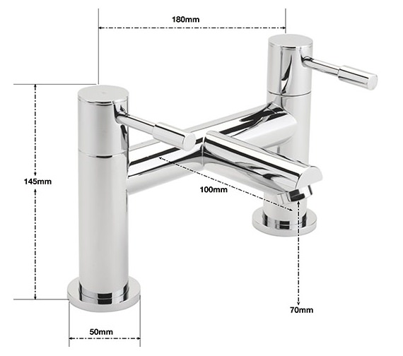 Alternate image of Sagittarius Boston Deck Mounted Bath Filler Tap