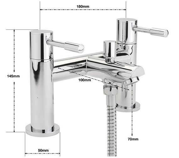 Alternate image of Sagittarius Boston Deck Mounted Bath Shower Mixer Tap With No.1 Kit